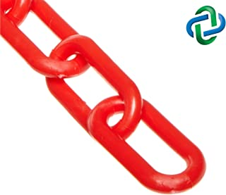 Mr. Chain Heavy Duty Plastic Barrier Chain, Red, 2-Inch Link Diameter, 50-Foot Length (51005-50)