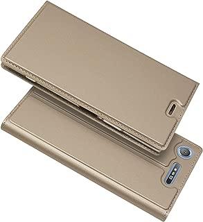 Sony Xperia L1 ケース 手帳型 Xperia L1 ケース 手帳 Xperia L1手帳 Xperia L1 カバー Xperia L1 財布ケース 【iCoverCase】 内蔵マグネット スマホケース 携帯カバー カードポケット スタンド機能 軽量 超薄型 耐摩擦 【選べる4色】ゴールド