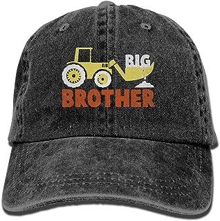 Men's Women's Big Brother Excavator Cotton Adjustable Peaked Baseball Dyed Cap Adult Washed Cowboy Hat
