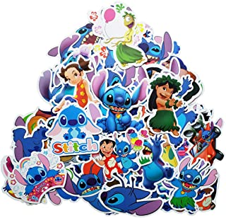Water Bottle Stickers Lilo & Stitch Anime Catoon Stickers(55pcs) Snowboard Laptop Luggage Car Motorcycle Bicycle Fridge DIY Styling Vinyl Home