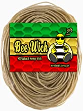 50ft of 100% Organic Hemp Wick, Waxed by Hand in The USA with American Beeswax (1.0mm)