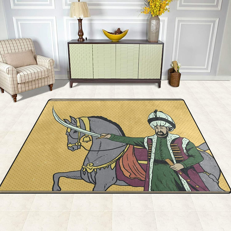 FAJRO Sultan Portrait Rugs for entryway Doormat Area Rug Multipattern Door Mat shoes Scraper Home Dec Anti-Slip Indoor Outdoor