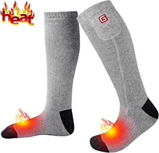 Rechargeable Battery Heated Socks Thick Knitting 3.7V Electric Heated Socks,Winter Unisex Socks Ideal Gift for Men & Women Perfect for Fishing/Hiking/Sleeping Free Size