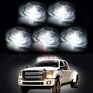CCIYU 5 LED Clear Cab Roof Running Lights Fit For 99-11 Ford F250 F350 Pick Up W5W 194 168 2825 152