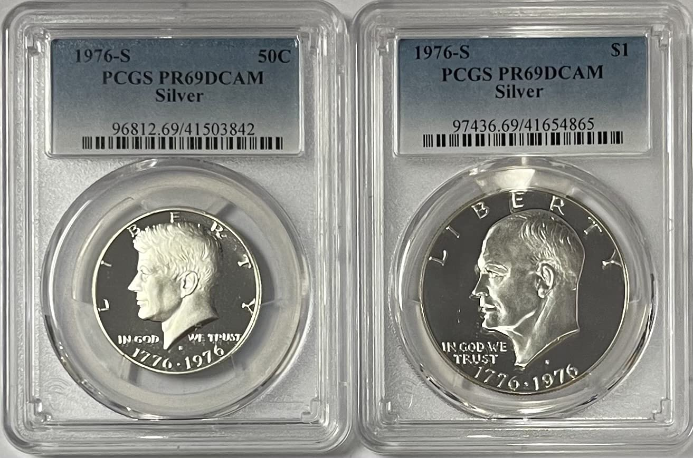 1976 S List price Eisenhower Ike Kennedy Half Dollar Large discharge sale Silver