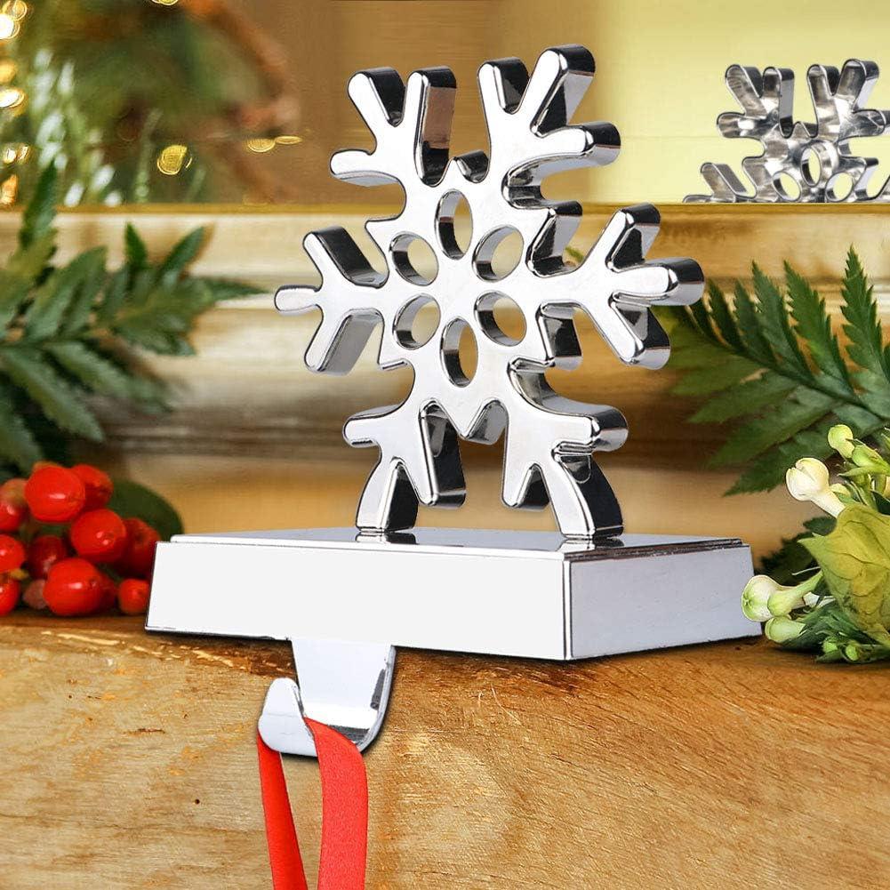 Gorgeous Import Snowflake Christmas Stocking Hanger Mantel Stock Metal