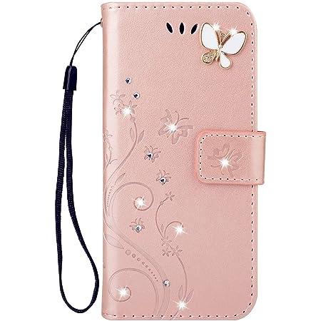 LG style3 L-41A ケース LG style3手帳型ケース かわいい おしゃれストラップ付 カード収納 財布型 人気 高級PUレザー 手帳型 横置機能き 薄型 財 マグネット式 LG style3 カバー (LG style3 L-41A, ローズゴールド)