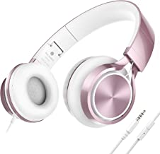AILIHEN MS300 Wired Headphones with Microphone Folding Lightweight Headset for Cellphones Tablets...