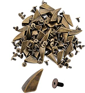 10pcs Horn Shaped Cone Spikes Screwback Studs DIY Craft Cool Rivets Punk Stud 10x17mm 3/8