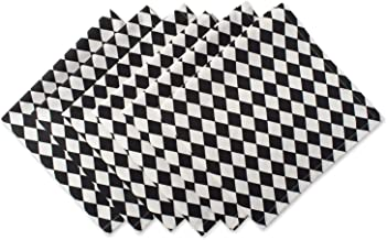DII Cotton Print Napkin for for Dinner Parties, Weddings & Everyday Use, Set, Harlequin 6 Piece