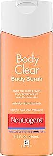 Neutrogena Body Clear Oil Free Acne Body Scrub with Salicylic Acid Acne Treatment Medicine, Exfoliating Salicylic Acid Bod...