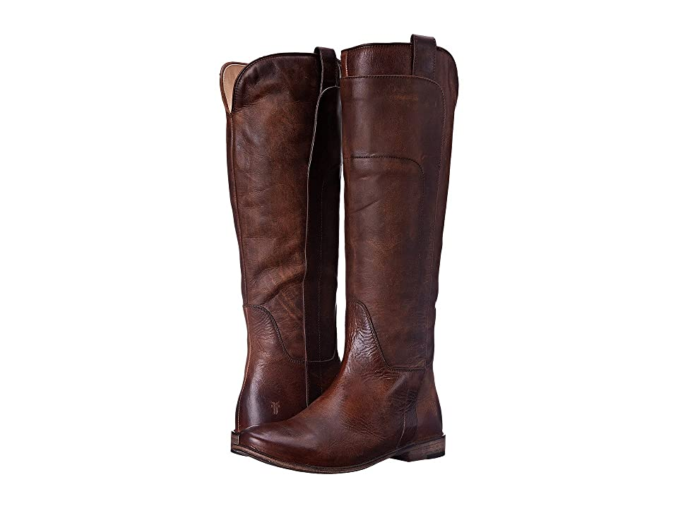 Frye Paige Tall Riding (Dark Brown Antique Pull Up) Women