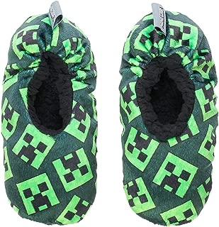 minecraft creeper slippers