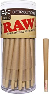RAW Cones Classic 98 Special | 50 Pack | Natural Pre Rolled Rolling Paper with Tips & Packing Sticks Included