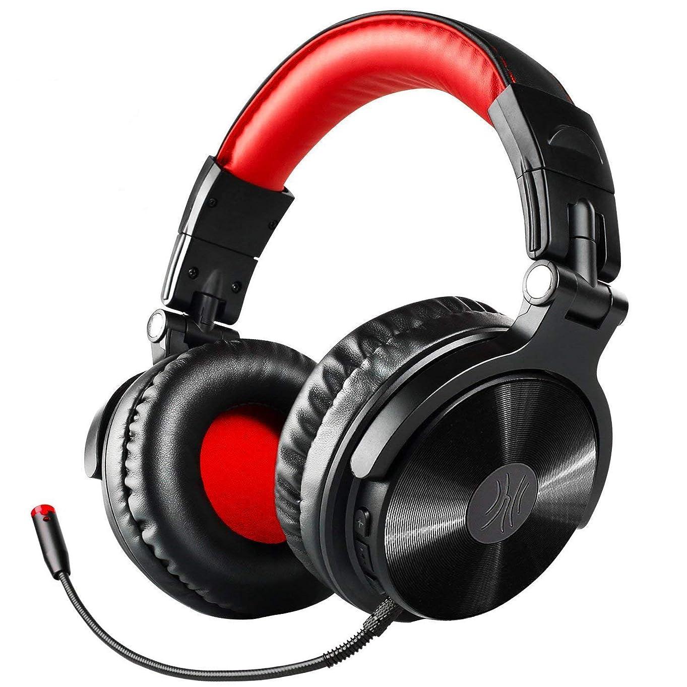 組み込むベテラン切り下げOneAudio ヘッドホン Bluetooth ゲーミングヘッドセット 着脱式マイク 低音強化 密閉型 折りたたみ式 30時間 500mAh 有線-無線 Xbox/PS4/Switch Pro-M
