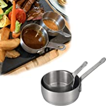 IMEEA Little Dipping Sauce Bowls Side Cups SUS304 Stainless Steel Sauce Dish with Handle for Condiment, Ketchup, Appetize...