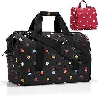 reisenthel Reisetasche Allrounder L 30 L dots  Kulturtasche toiletbag XL 4 L Ruby Hearts