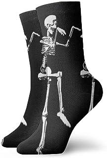 Jhonangel, Niños Niñas Locos Divertidos Divertidos Calcetines de calavera esquelética Calcetines lindos de vestir de novedad