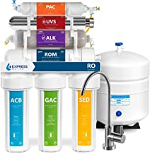 Express Water UV Reverse Osmosis Water Filtration System – 11 Stage UV Water Filter with Faucet and Tank – Under Sink Wate...