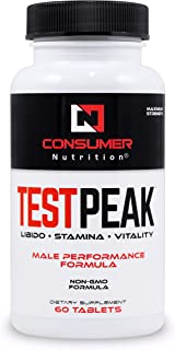 Test Peak Extra Strength Testosterone Booster for Men Natural Stamina, Endurance and Strength Booster 60 Caplets
