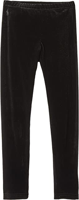 Stretch Velvet Leggings (Little Kids/Big Kids)