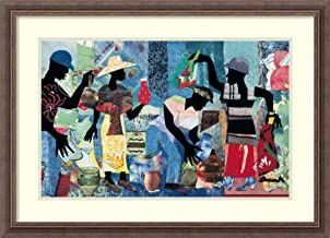 Framed Wall Art Print Yard Sale by James Denmark 30.00 x 21.75