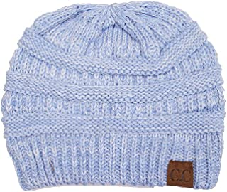 ScarvesMe Trendy Two Tone Warm Cable Knit Thick Skull Beanie Cap