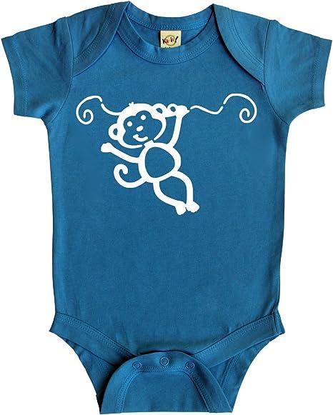 Monkey Silhouette Baby Bodysuit