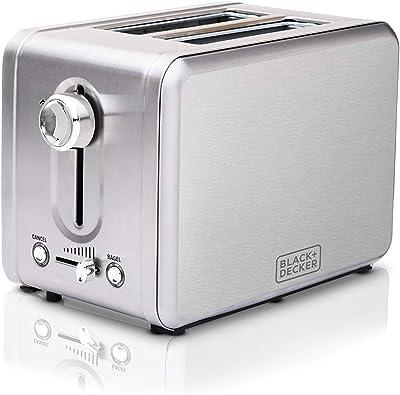 Black + Decker Toaster 2 Slice, Stainless Steel