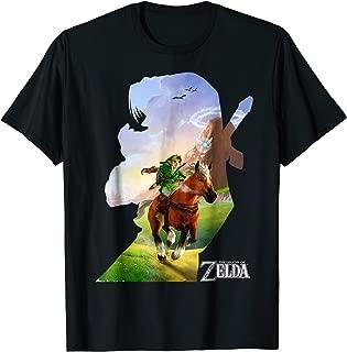 Nintendo Zelda Link Epona Ride Silhouette Graphic T-Shirt