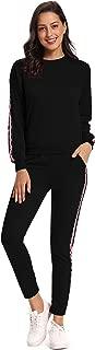 Women's Jogger Suit Outfits Sweatshirts Pullover Hoodie Sweatpants Tracksuit Set
