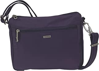 Travelon Anti-Theft Classic Small E/w Crossbody Bag (Purple/Grey Lining)