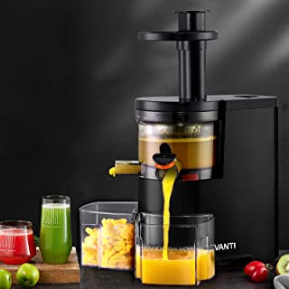 Devanti Cold Press Slow Juicer Processor Mixer Extractor Vegetable Fruit Black