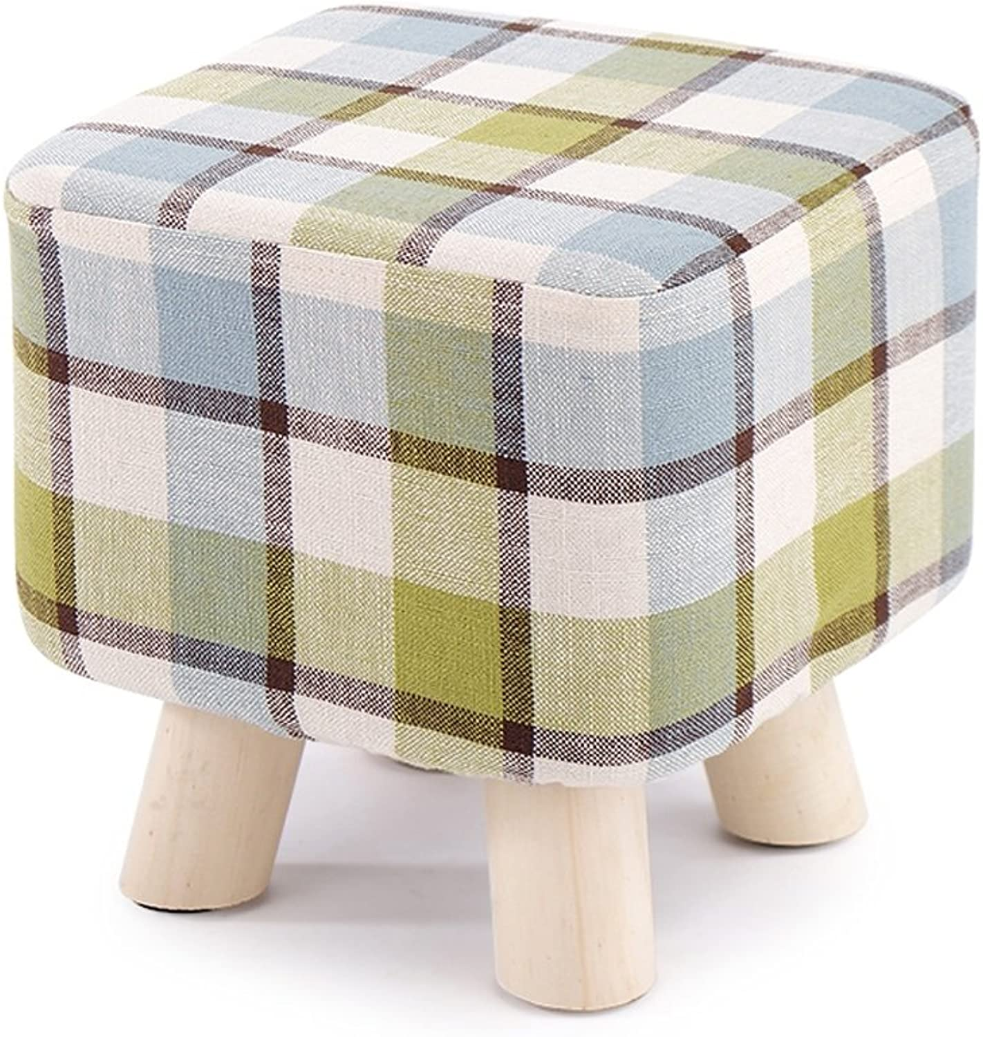 shoes Bench, Sofa Bench, Solid Wood Stool, Long Bed End Stool, Footstool,28×28×28.5cm (color   D)