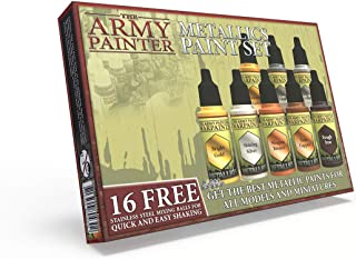 The Army Painter | Metallic Paint Set | 8 Peintures Métallisées et 16 Billes de Mélange pour collectionneurs de Figurines ...