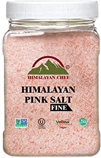 Himalayan Chef Himalayan Pink Salt Fine Grain, Plastic Jar-5 lbs