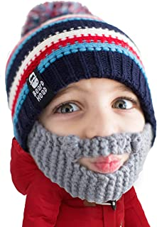 Beard Head Kid Gromm Beard Beanie -Knit Hat and Fake Beard for Kids and Toddlers
