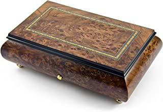 Hand Made 72 Note Sankyo Classic Style with Frame Inlay Grand Music Box - Many Songs Available - Polonaise, Tristesse, Impromptu