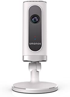 Smanos W100+IP6 Wi-Fi / Phone Line Alarm System + HD Wi-Fi Camera Super Wide Angle, Smart & Secure Home, Super Coverage Ca...