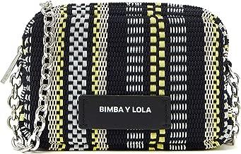 Bimba y Lola S plaited crossbody bag chain 192BBCD1W
