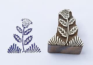Blockwallah Thistle Wooden Block Stamp