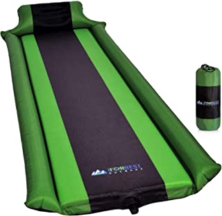 IFORREST Sleeping Pad w/Inflatable Armrest & Pillow, Best Camping & Hiking Self-Inflating Mats Preventing Rollover - Ideal for Tent, Sleeping Bag, Cot and Hammock!