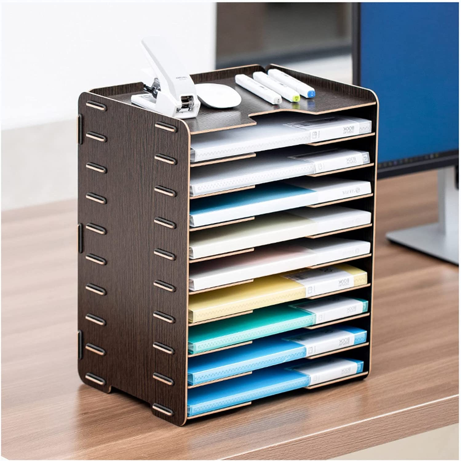 Tucson Mall Office Desk File Organizer 9 Slot Great interest Tray Paper Large Capaci Letter