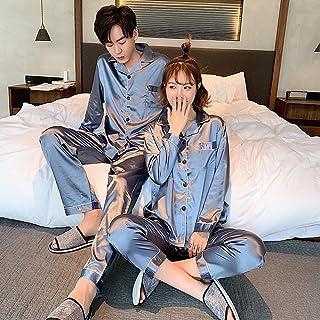 Gbrand Young Lover Pajamas Women Long-sleeved Spring Summer Pyjama Loose Men Couple Pijama Set Warm Sleepwear Can Be Worn ...