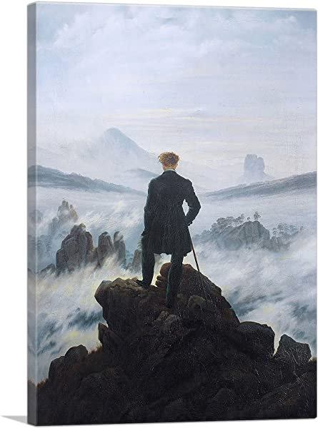 ARTCANVAS The Wanderer Above The Sea Of Fog 1818 Canvas Art Print By Caspar David Friedrich 40 X 26 0 75 Deep