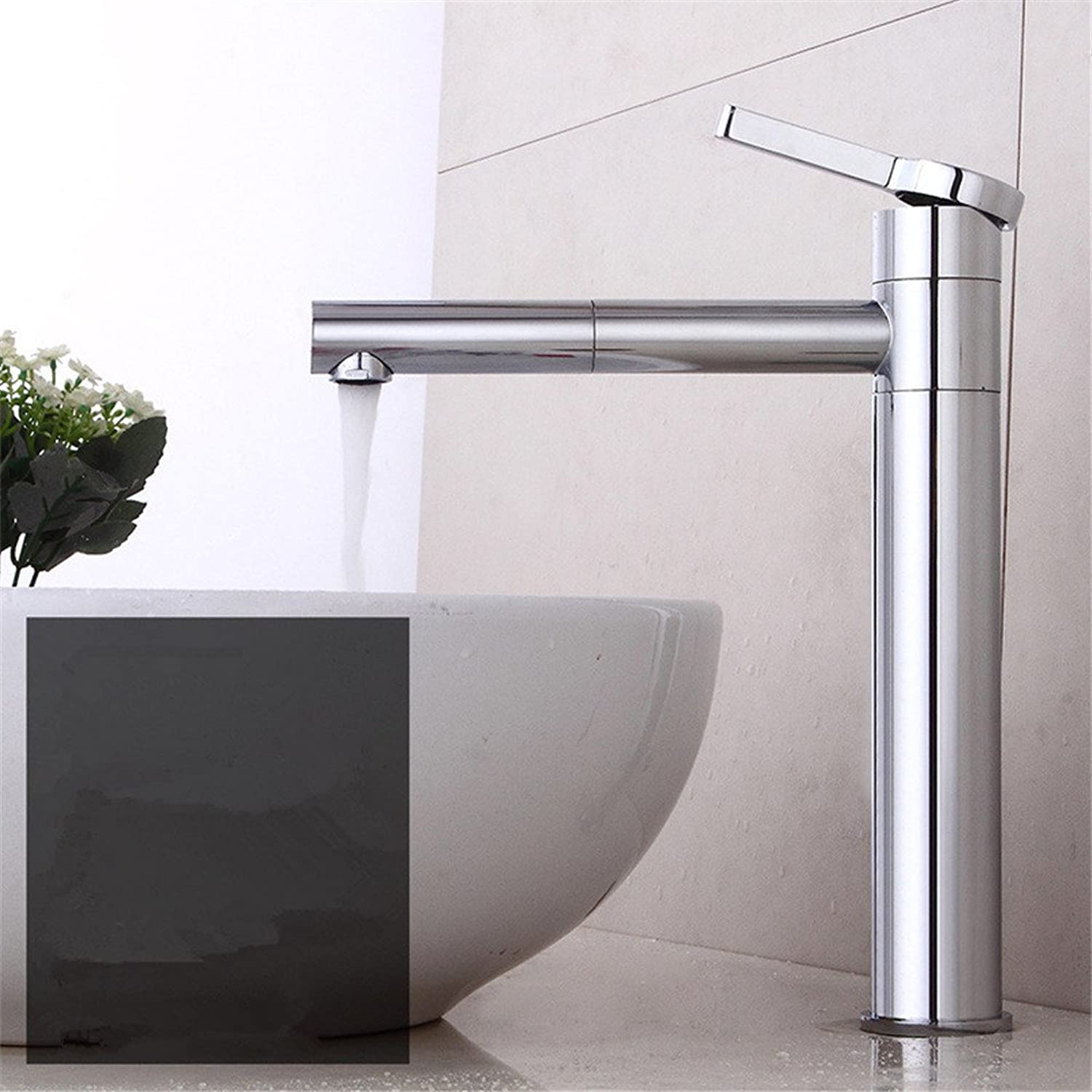 MulFaucet Faucet Water tap Taps Swivel Hoses Modern redary hot and Cold Water Ceramic Valve Single Hole Single Handle Bathroom Vanity