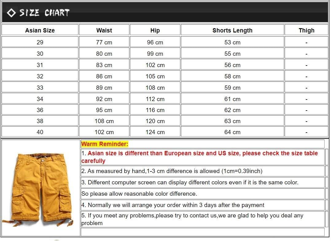 JiuRui Leisure Shorts New Summer Men Short Shorts Cotton Military Cargo Shorts 11 Colors Plus Size 29-40 (Color : Red, Size : 38)