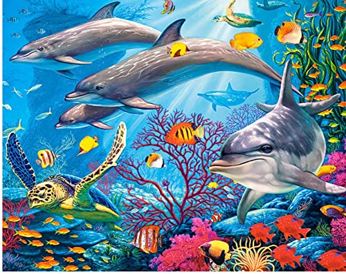 cómodo XIGZI 5D Bricolaje Bricolaje Cuadrado Cuadrado Cuadrado Completo Diamante Pintura Bordado Mundo Submarino Animal Punto de Cruz Rhinestone Mosaico Decoración para El Hogar Sin Marco  auténtico