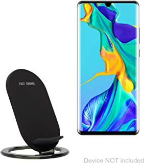 Huawei P30 Pro Charger, BoxWave [Wireless QuickCharge Stand] No Cord; no Problem! Charge Your Phone with Ease! for Huawei P30 Pro - Jet Black