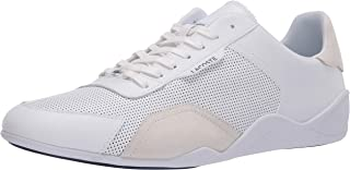 Lacoste Men`s HAPONA 120 3 CMA Sneaker, White/Navy, 13 Medium US